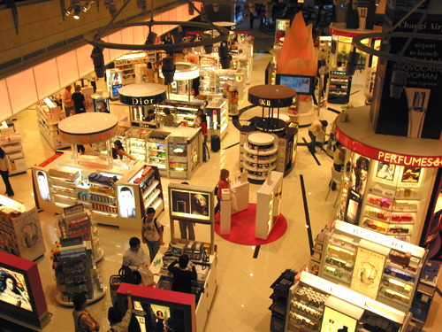Shopping at Changi International Airport, Singapore