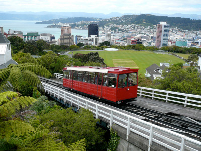 Cable Car to the Wellington Botanical Gardens