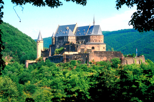 Vianden Castle is located in Northeastern Luxembourg, in an area known as the Ardennes