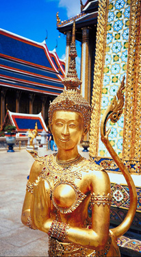 Gold sculpture in Wat Phra Keo