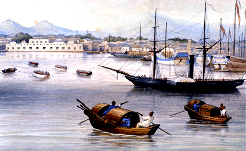 Harbor at Shanghai, 1875