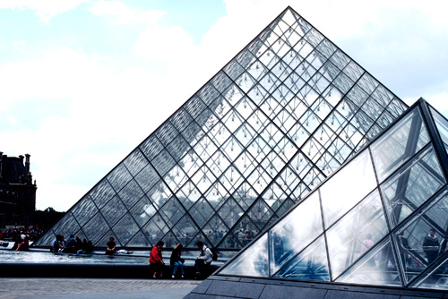 Glass Pyramids at the Louvre Courtyard