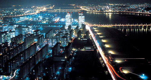 Seoul, Night Aerial View