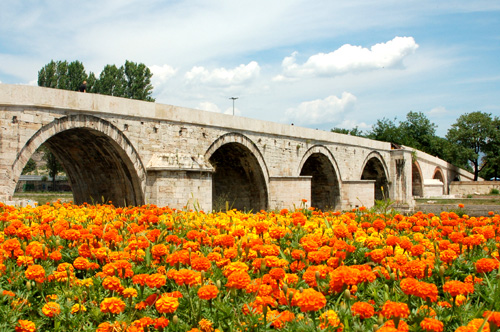 An old bridge in Skopje