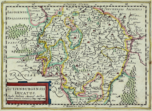 Vintage Map of Luxembourg